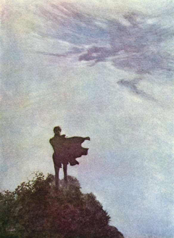 Alone    by Edgar Allan Poe, Edmund Dulac illustration