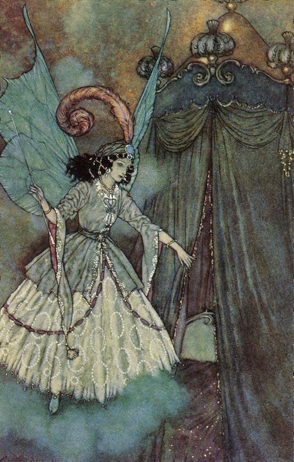 A Higher Destiny. Illustration to Beauty and the Beast -  by Edmund Dulac