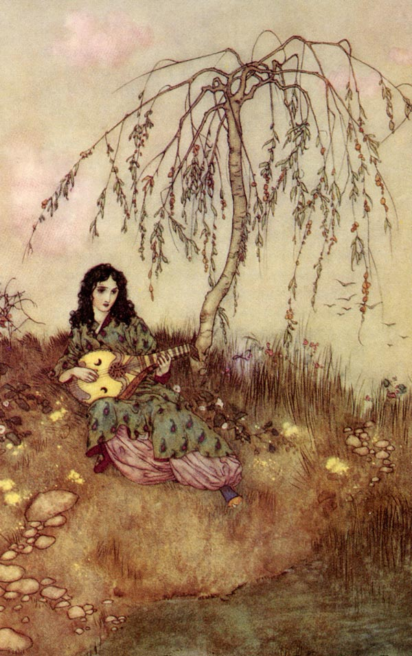 Beauty Had a Brave Heart. Illustration to Beauty and the Beast -  by Edmund Dulac