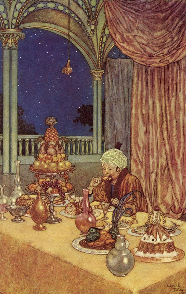 The Beast's Palace of Wonder. Illustration to Beauty and the Beast -  by Edmund Dulac