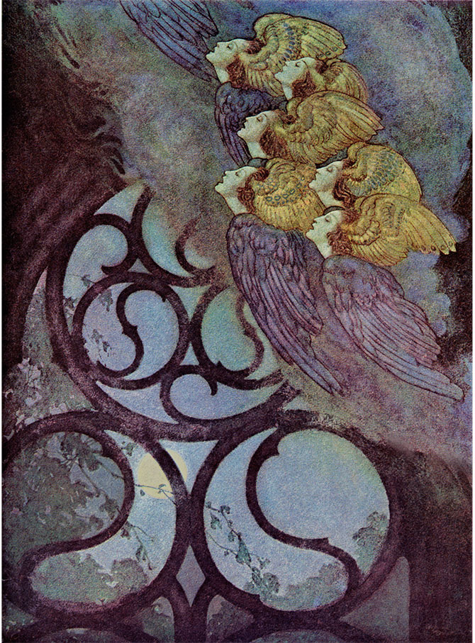 The Bells,   Edmund Dulac illustration