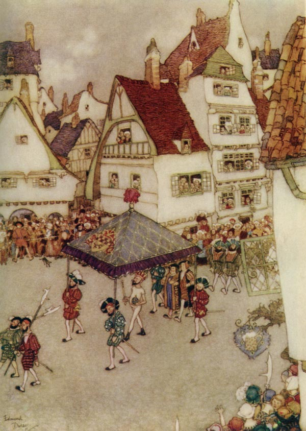 The Emperor's New Clothes    Fairy Tales of Hans Christian Andersen  Edmund Dulac illustration