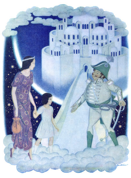 The captain greeted them as honored guests, Edmund Dulac, Daughters of the Stars