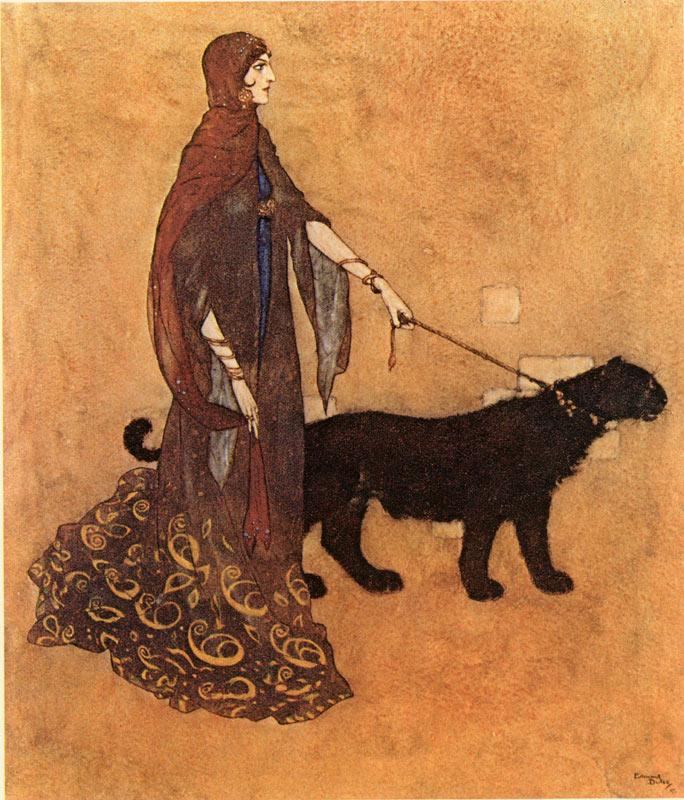 Queen of the Ebony Isles, Edmund Dulac, Arabian Nights