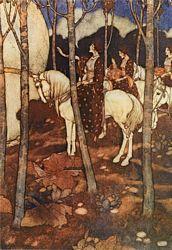 Arabian Nights, Maidens on White Horses
