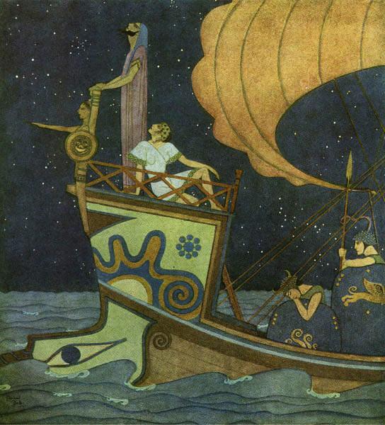 Tiphys was a Star Gazer  Tanglewood Tales  Edmund Dulac illustration