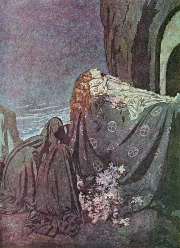 Lenore -  Illustration to the Poem by Edgar Allan Poem, Edmund Dulac
