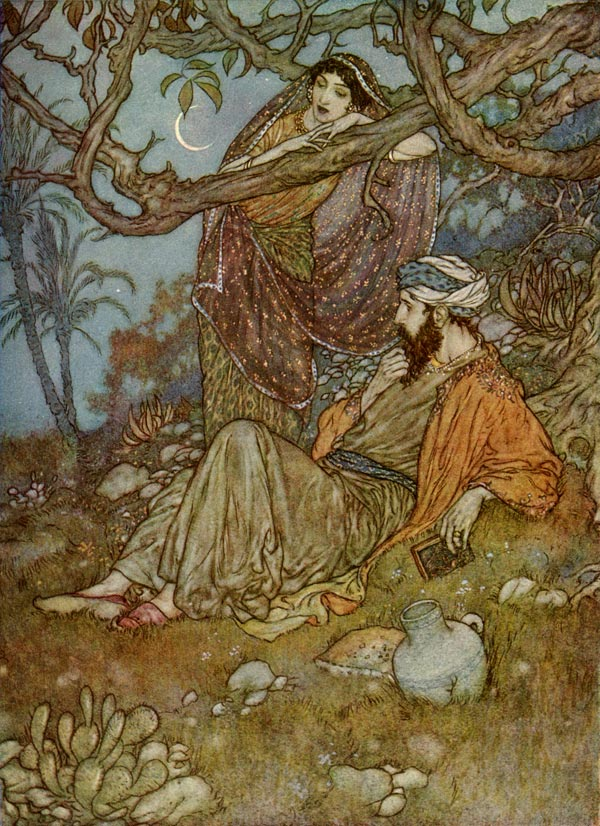 A Loaf of Bread, by Edmund Dulac, from the illustrations to the Rubaiyat of Omar Khayyam