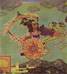 Edmund Dulac : Medea and the Fire Dragon