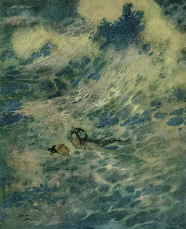 The Little Mermaid Saved the Prince, by Edmund Dulac