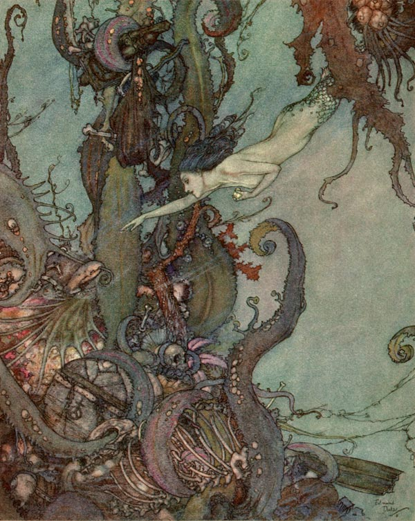 The Bright Liquid Sparkled, by Edmund Dulac