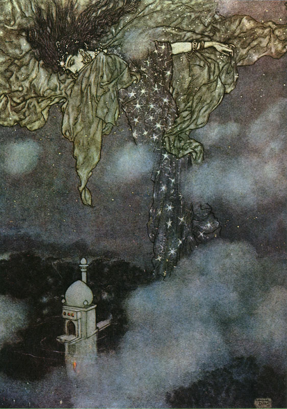 The Sleeve of Night, by Edmund Dulac, from the illustrations to the Rubaiyat of Omar Khayyam