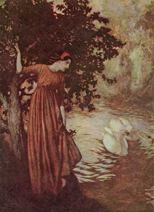 To the River -  Illustration to the Poem by Edgar Allan Poem, Edmund Dulac