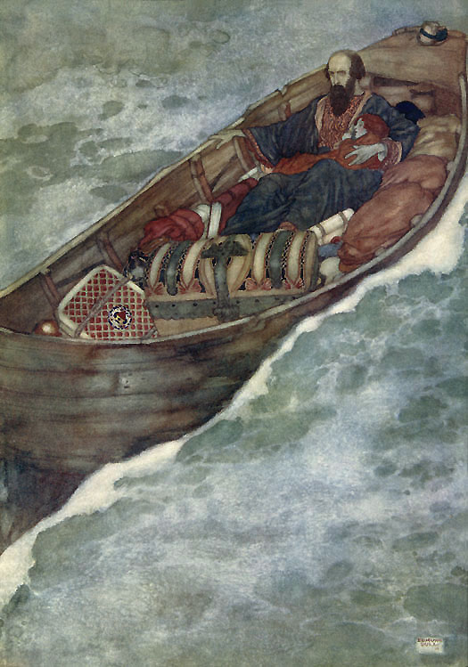 Prospero. Illustration to The Tempest -  by Edmund Dulac