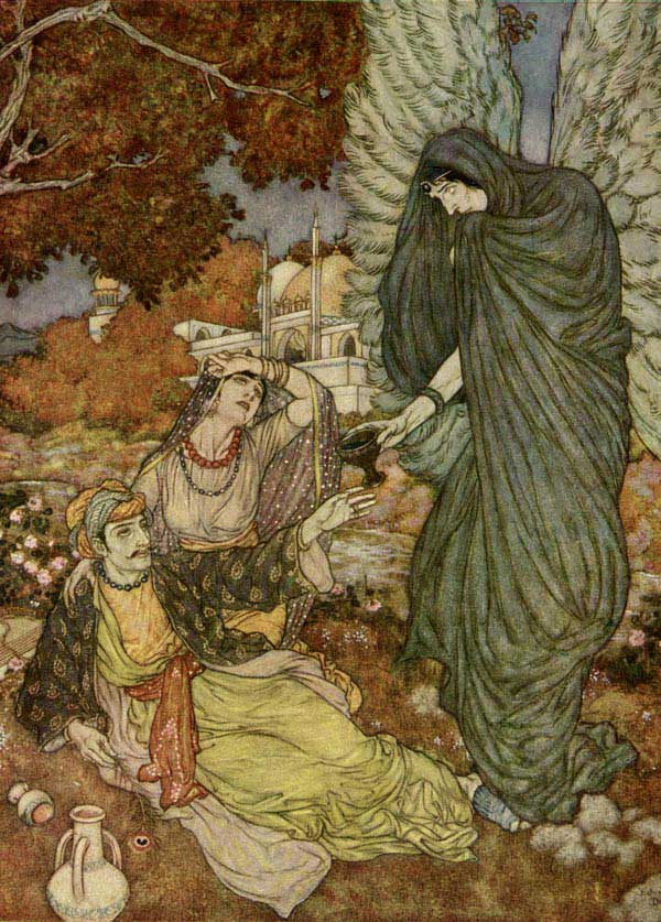 Angel of the Drink of Darkness, by Edmund Dulac