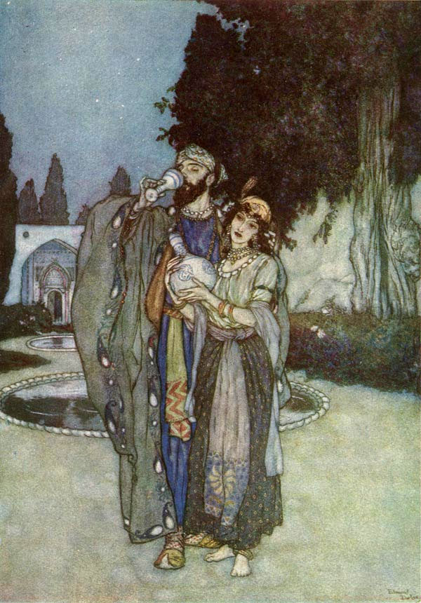 Human or Divine, by Edmund Dulac