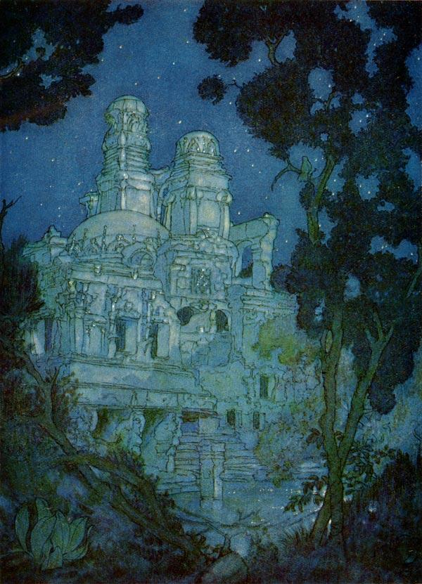 Solitary Ringdove, Edmund Dulac