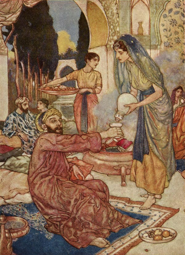 A New Marriage, by Edmund Dulac illustration to The Rubaiyat