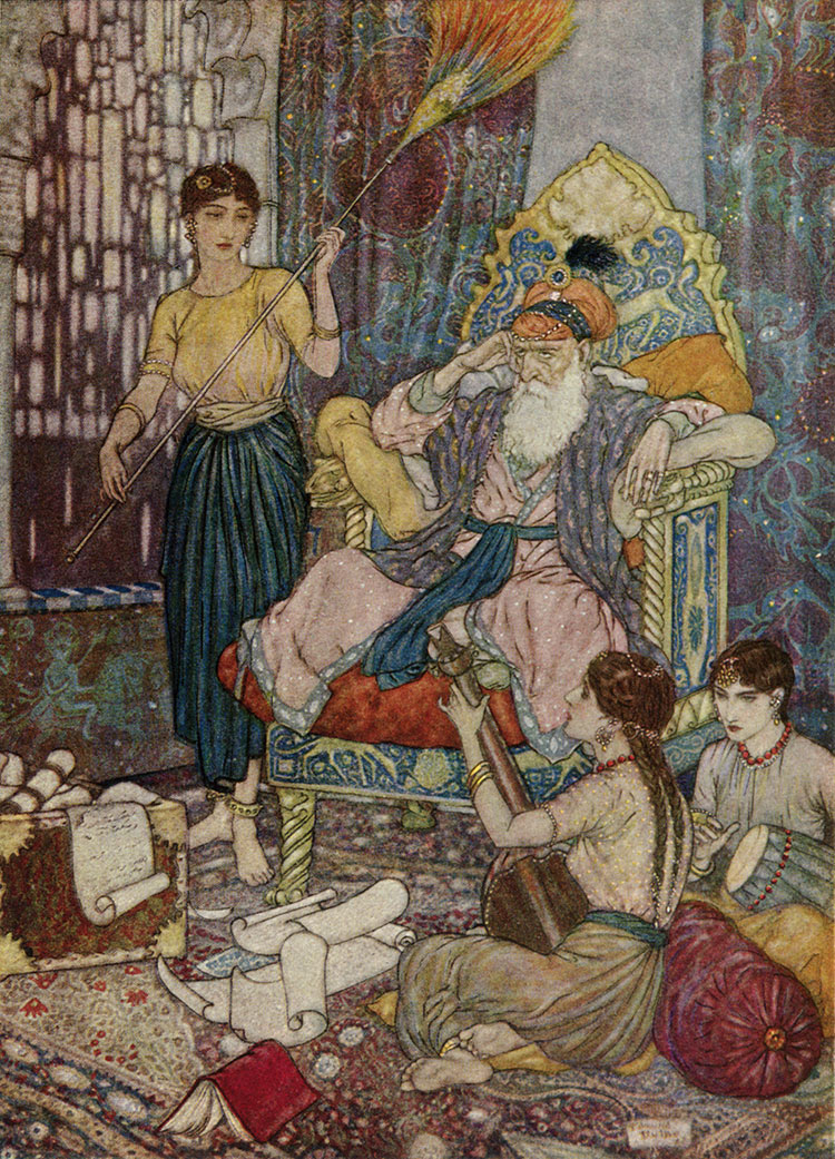 Peace to Mahmud on his Golden Throne, Edmund Dulac