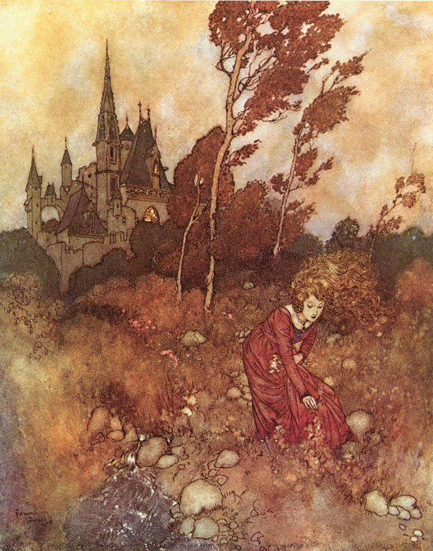 The Wind's Tale. Illustration to the fairy tale by Hans Christian Andersen -  by Edmund Dulac