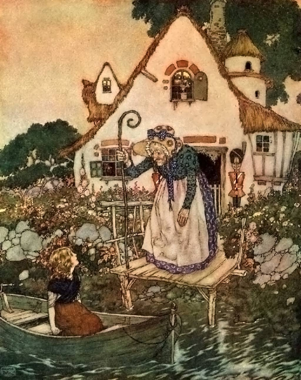 Edmund Dulac, The Garden of the Woman Learned in Magic