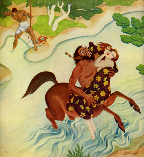 Herakles and Deianeira, by Edmund Dulac