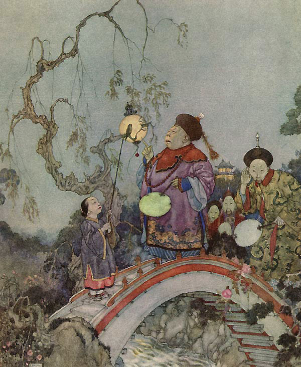 Is it Possible? Illustration to The Nightingale by Hans Christian Andersen -  by Edmund Dulac