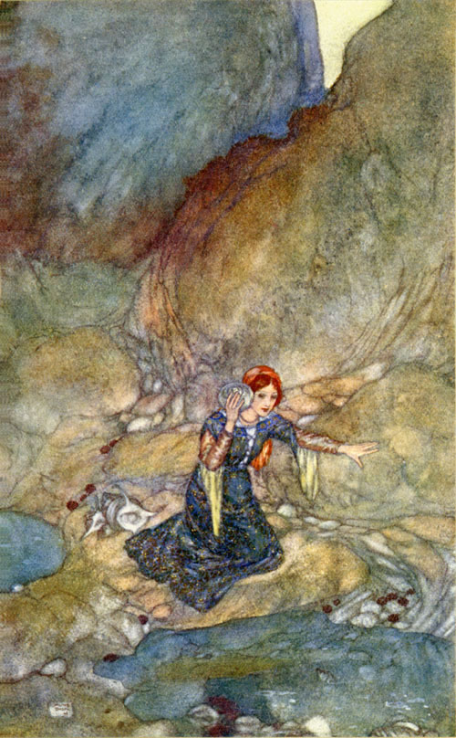 Miranda, No woman's face remember save mine own. The Tempest Edmund Dulac illustration