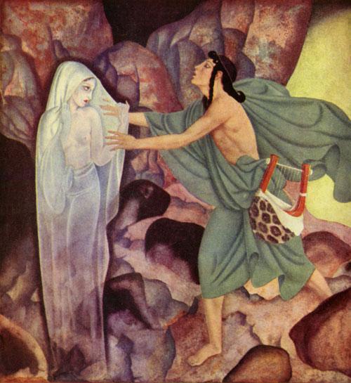 Orpheus and Eurydice, by Edmund Dulac