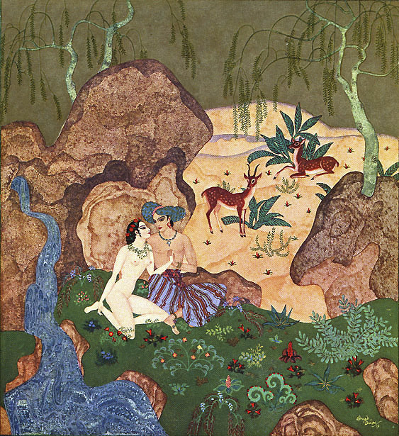 The Pearl of Love. Illustration to Kingdom of the Pearl -  by Edmund Dulac