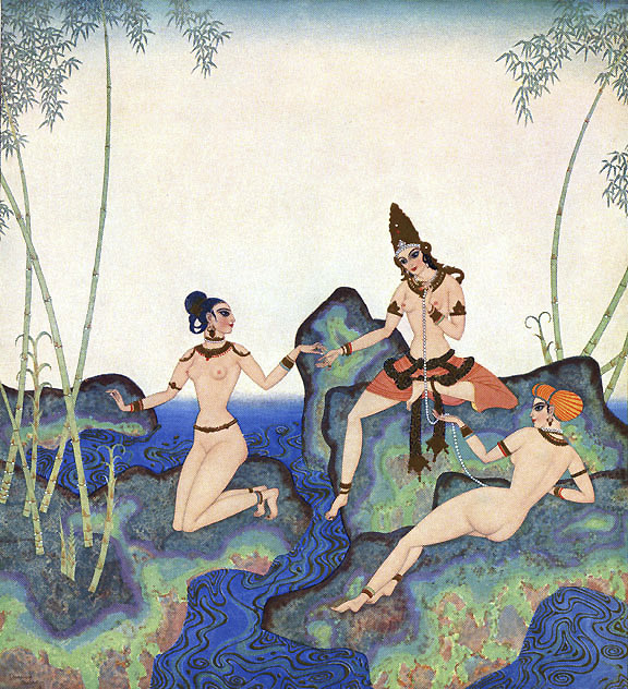 Pearl of the Bamboo. Illustration to Kingdom of the Pearl -  by Edmund Dulac