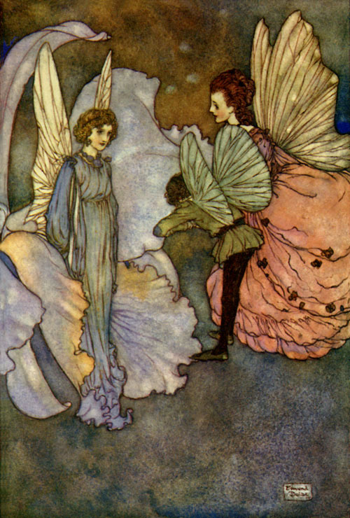 Princess Orchid's Party. Illustration to Fairies I Have Met -  by Edmund Dulac