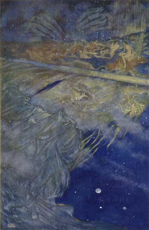 We Are Such Stuff as Dreams Are Made On. Edmund Dulac, The Tempest