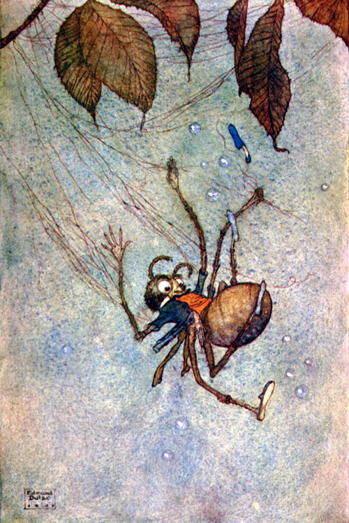 The Big Spider's Diamonds. Illustration to Fairies I Have Met -  by Edmund Dulac