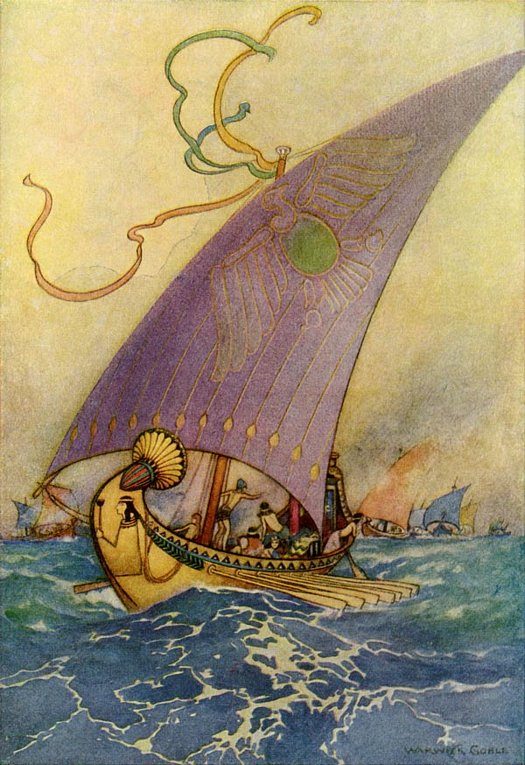 Cleopatra's Barbe, Warwick Goble, The Works of Geoffrey Chaucer