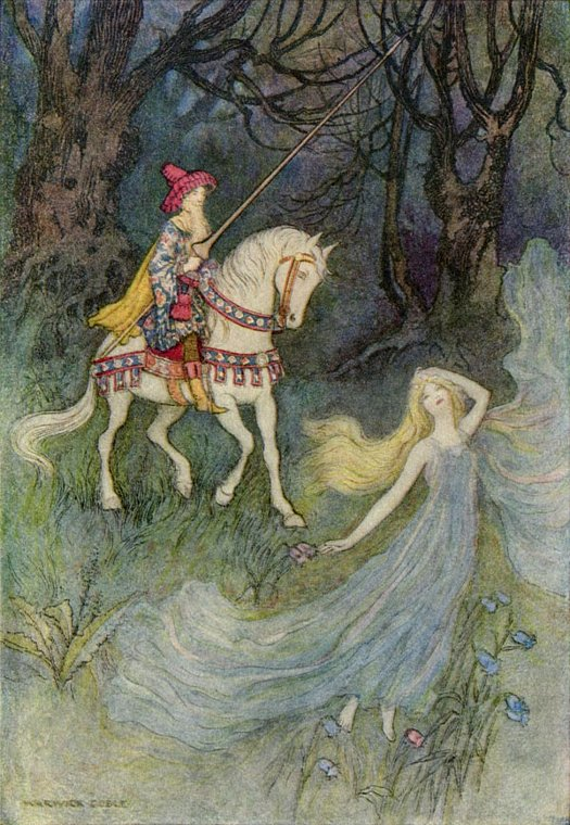 The Elf Queen, Warwick Goble, The Works of Geoffrey Chaucer