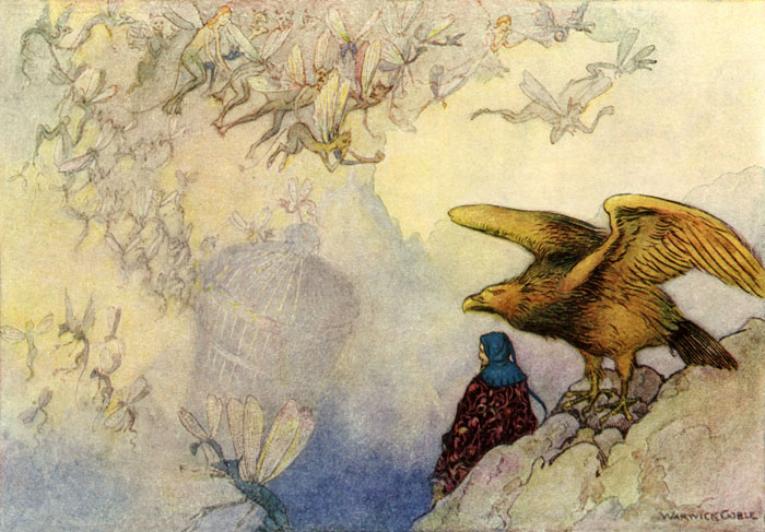 Winged Wonders, Warwick Goble, The Works of Geoffrey Chaucer