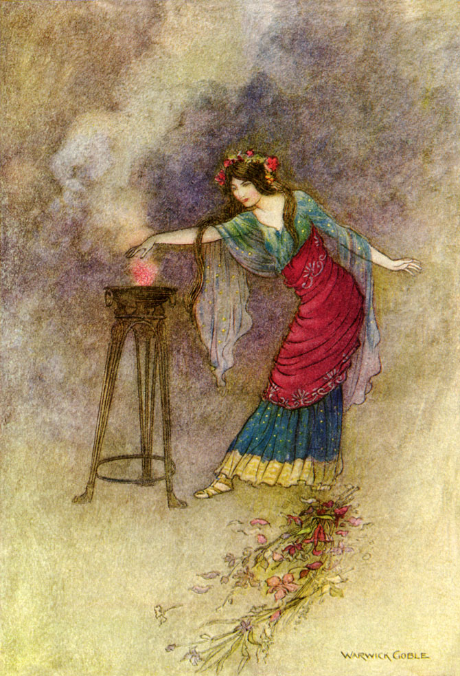Medea's Cauldron, Warwick Goble, The Works of Geoffrey Chaucer