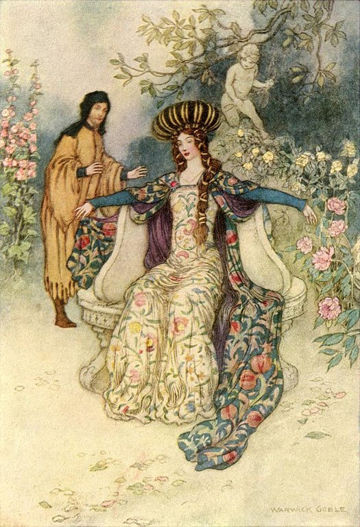 In Thrall, Warwick Goble, The Works of Geoffrey Chaucer