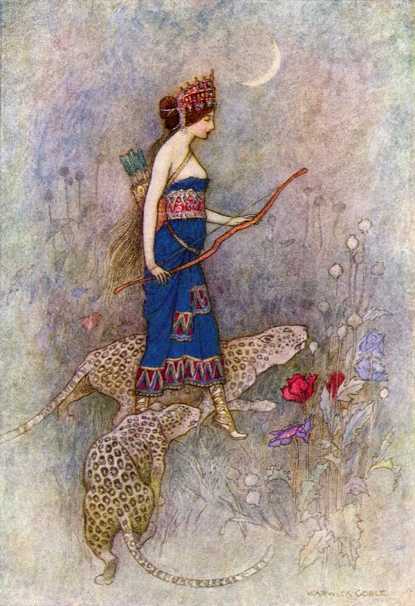 Zenobia, Queen of Palmyria, Warwick Goble, The Works of Geoffrey Chaucer