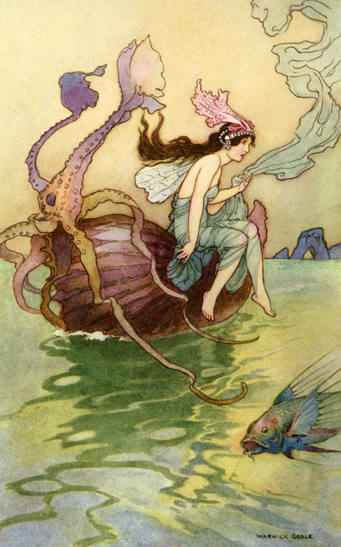Nautilus, Warwick Goble, The Book of Fairy Poetry