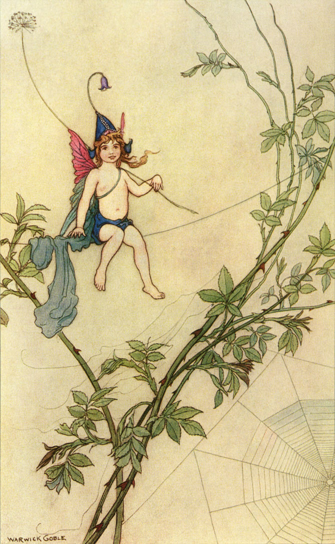 Puck, Warwick Goble, The Book of Fairy Poetry