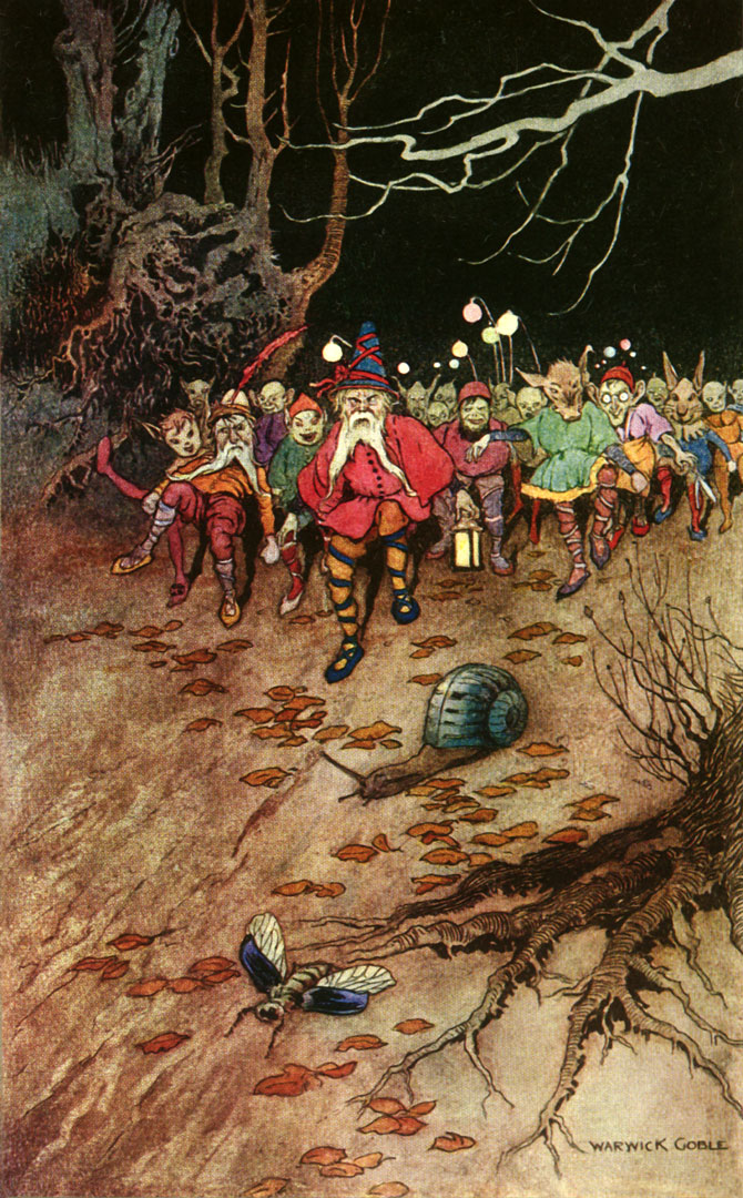 Gnomes, Warwick Goble, The Book of Fairy Poetry