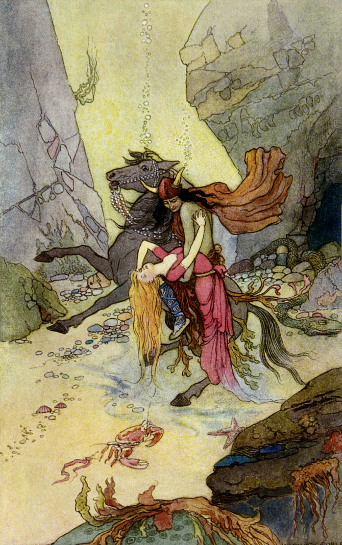 The Kelpie, Warwick Goble, The Book of Fairy Poetry
