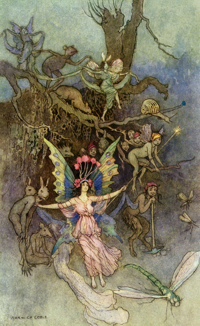 Vearies, Warwick Goble, The Book of Fairy Poetry