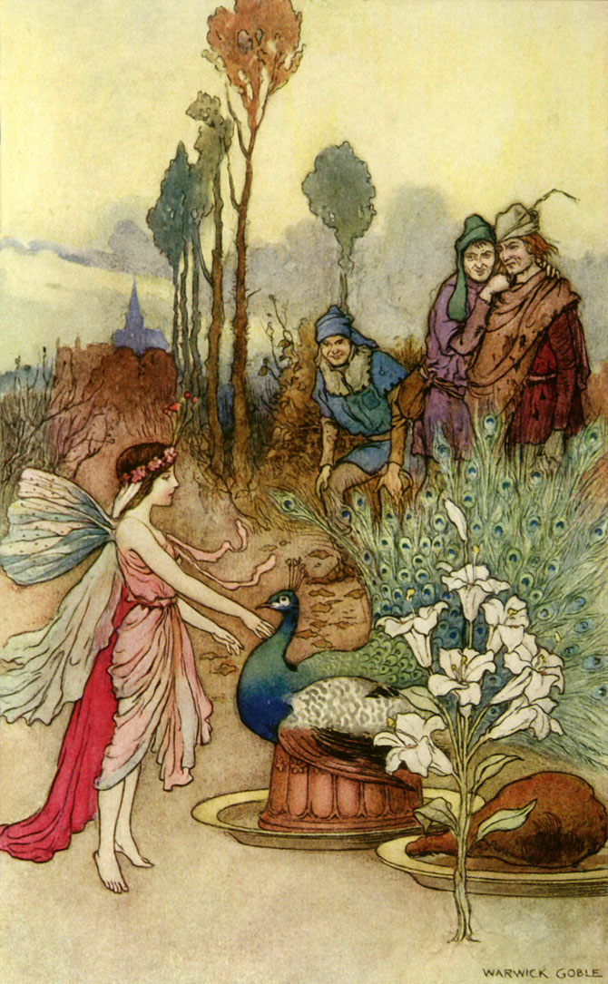 A Crust of Peacock Pie, Warwick Goble, The Book of Fairy Poetry