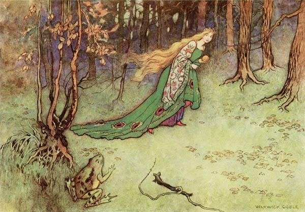 The Frog Prince, Warwick Goble, The Fairy Book