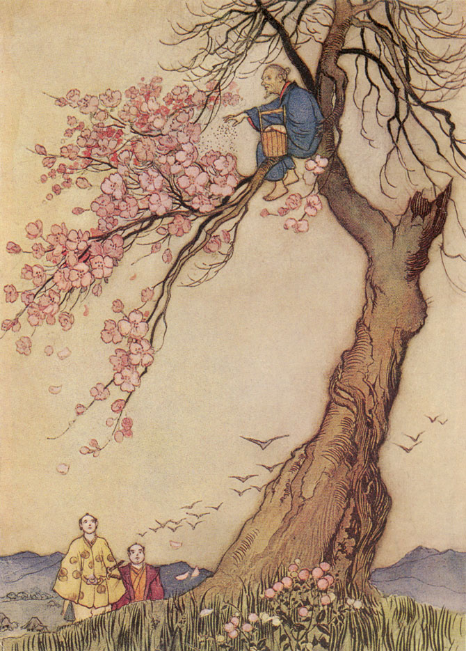 Hana-Saka-Jiji, Warwick Goble, Green Willow and Other Japanese Fairy Tales