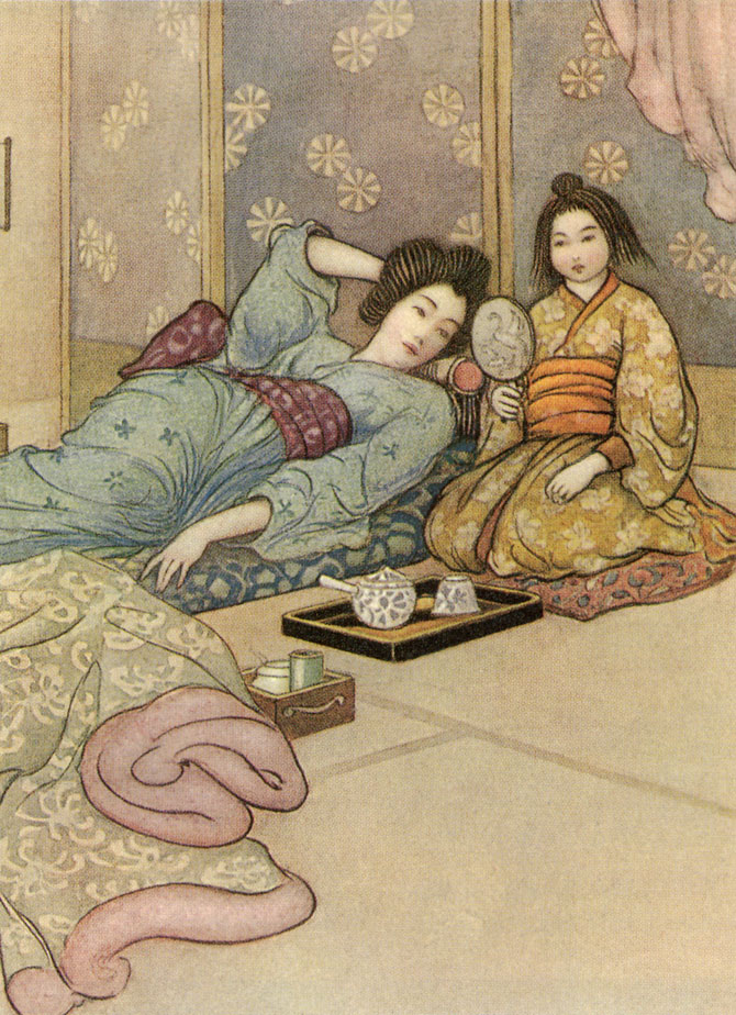 Matsuyama's Mirror, Warwick Goble, Green Willow and Other Japanese Fairy Tales