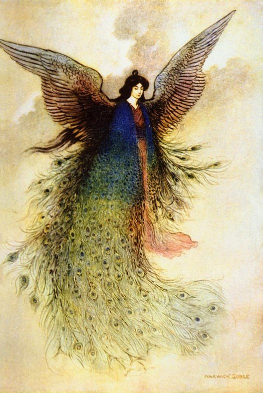 Moon Maiden, Warwick Goble, Green Willow and Other Japanese Fairy Tales
